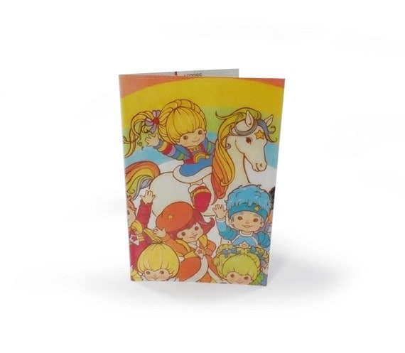 RESERVED Rainbow Brite Passport Cover - Upcycled Vintage Comic in Vinyl