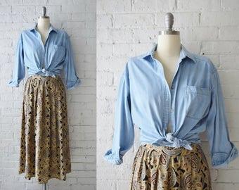 Vintage Chambray Shirt | Medium-Large