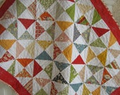 American Jane Baby Quilt....Vintage look....Shower Gift....Gender Neutral....Ready to Ship