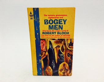 Vintage Horror Book Bogey Men by Robert Bloch 1963 Paperback Anthology