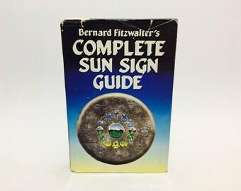 Vintage Astrology Book Bernard Fitzwalter's Complete Sun Sign Guide 1987 Hardcover