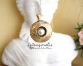 Diffuseur de parfum en bronze et perle d'eau douce SADP11