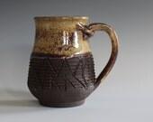unique coffee mug, 12 oz, handmade ceramic cup, handthrown mug, ceramic stoneware, pottery mug, unique coffee mug, ceramics and pottery