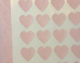 Pink Pastel Stickers (108 per sheet)