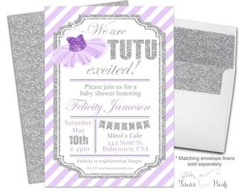 Tutu Baby Shower Invite - Tutu Baby Sprinkle - Ballerina Baby Shower - Ballet Baby Shower - Girl Baby Shower - Tutu Invitation - Tutu Invite