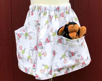 Toddler Girl Skirt - White - Girl and Fox