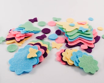 FLUTTERBY BUTTERFLY Goodie Pack - Felt Shapes, Ribbon, Buttons Craft Pack