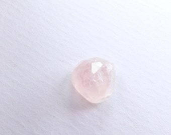 Icy Pink Morganite Micro Faceted Cabochon. Natural Gemstone. Rare Material. Freeform Facet Cab. 1 pc 4.3cts. 10x10 mm (MO105)