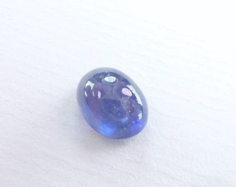 Oval SAPPHIRE Cornflower Blue. Oval. Smooth and Glossy Cabochon. Great Ringstone. 1 pc. 6.63 cts. 11x9 mm (S2023)