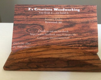 Zebrawood Business Card Holder