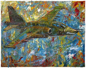 Oil Paint on Stretched Canvas of 20 by 16 by 3/4 in./ Original oil painting plane planes flying pilot art artwork landscape aviation