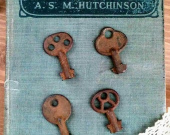 Collection of Four Small Unique Skeleton Keys