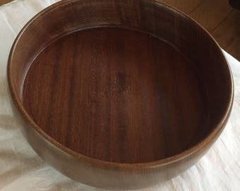 A vintage, hand turned wooden bowl