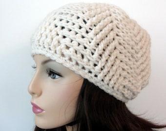 CROCHET  Hat Pattern, Beanie Pattern, Crochet Beanie pattern, ALL SIZES, Toddler - Child - Adult, Chevron Beanie