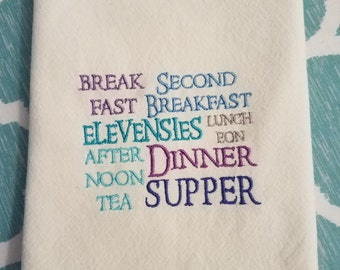 SECONDS LOTR Hobbit Second Breakfast  Elevensies Towel