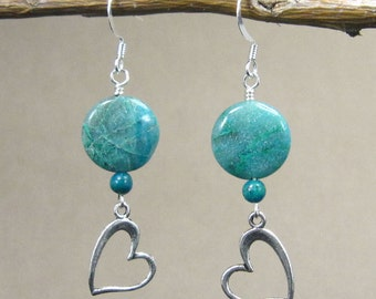 Teaching, Self-Expression Earrings with Chrysocolla (342)
