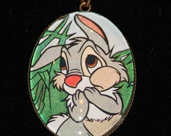 Bambi Thumper Bunny Rabbit Vintage Disney Necklace