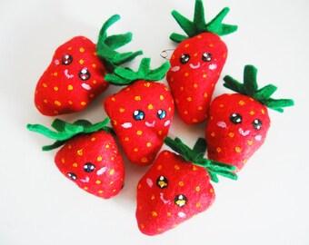 Strawberry Plush Brooch