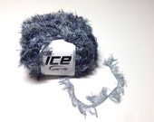 Ice Yarns Smooth Eyelash, Dark Blue Novelty Yarns, Knitting Supplies, Crochet Notions, Y207