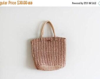25% OFF Vintage Woven Esprit Basket Bag / Market Bag / Raffia Bag