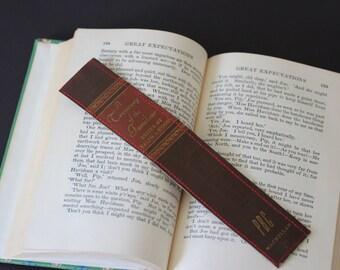 Book Spine BOOKMARK /// A Treasury of the Familiar  /// Teacher Gift