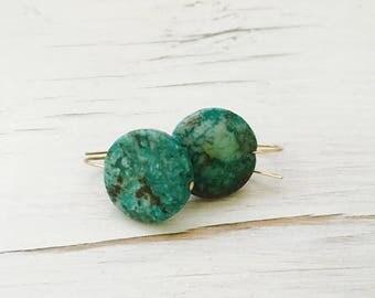 Turquoise Earrings Turquoise Jewelry Gemstone Jewelry