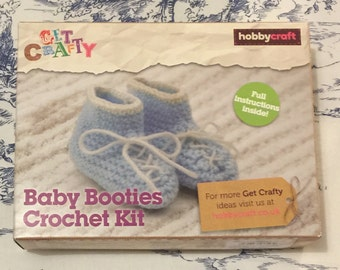 Baby Booties Crochet Kit