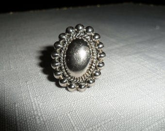 Vintage Heavy Sterling Silver Ring