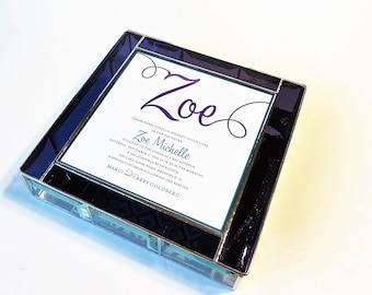 Stained Glass Keepsake Bat Mitzvah Invitation Gift Box Jewelry Box Custom Made to Order