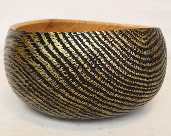 Charred and Gilded Bowl