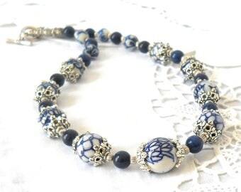 delft blue necklace delft blue jewelry delft blue style necklace blue and white necklace delft necklace delft blue jewelry