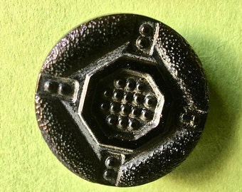 Vintage Czech lass Buttons in Geometric Design for Crafts and Sewing