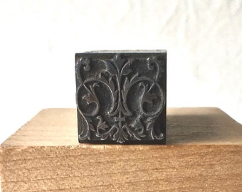 Elaborate Letterpress Dingbat or Ornament for Printing Stamping and Decor