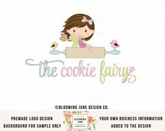 Fairy Logo Design Bakery Logo Cookie Logo Bakers Logo Design Premade Logo Design Baking Logo Design Photography Logo Graphic Design