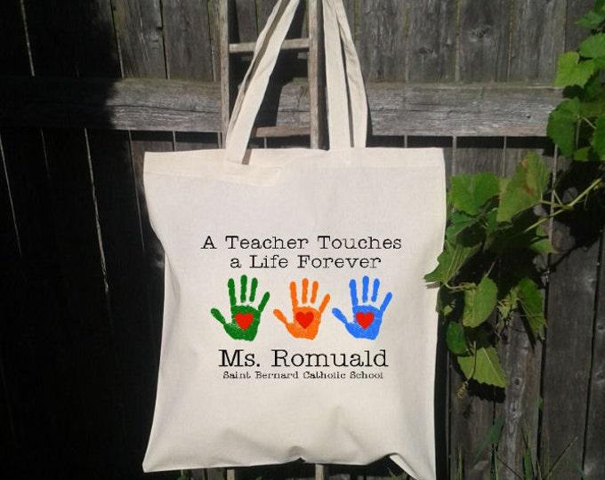 Teacher Tote Bag - School Tote - Book Bag - Teacher Gift Bag - Eco Friendly Tote Bag- Personalized