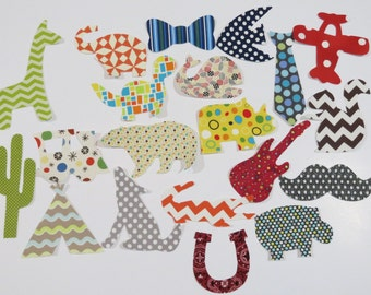 20 Iron On Appliques Baby Boy Appliques Baby Shower Activity Onesie Appliques