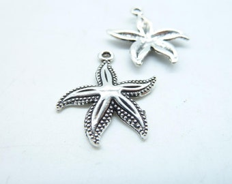 20pcs 23x25mm Antique Silver  Starfish Charms Pendant c5335