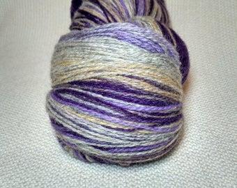 KAUNI Wool Yarn, 2ply, Sport Weight, Self-Striping Color Thomas