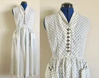 Polka Dot Day Dress with Pockets, size small
