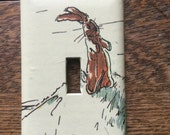 The Velveteen Rabbit Upcycled /Recycled Light Switch Plate