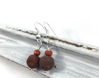 Small Natural Diffuser Earrings