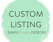 Custom Listing for Heathernaylo19