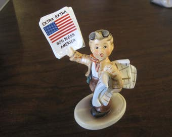Hummel Figurine - 1st Issue Newspaper Extra Extra 2113 with Box