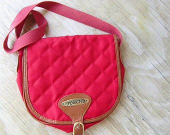 Vintage Red Quilted Shoulder Bag Small Purse