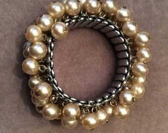Expandable  Faux Pearl Bracelet