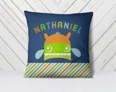 Throw Pillow, Pillow Cover,  Dorm Pillow Personalized Pillow, Kids Pillow: Monster Two