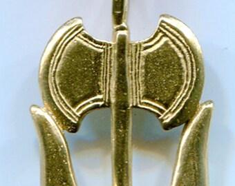 horned Labrys - Bronze - 5702B