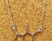 March for Science - Caffeine molecule charm necklace