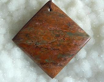 New,Green Opal Square Shape Pendant Bead,35x4mm,10.7g