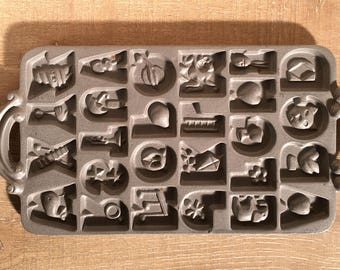 Foodie Gift, Cast Iron Mold Letter Mold, Cast Iron Candy  Mold, Candy Mold, Craft Mold, Alphabet Mold, Letter Mold